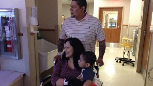 The Montalvo family welcome their quadruplets.