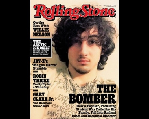 The controversial Boston Bomber Rolling Stone cover.