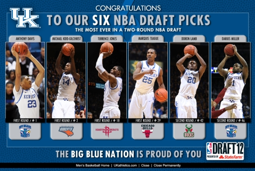 Kentucky Players Go 1-2 In The 2013 NBA Draft