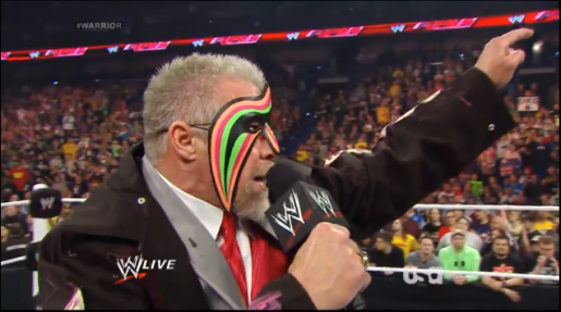 The Ultimate Warrior at his final WWE appearance.
