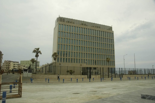 The US Embassy in Havana, Cuba.