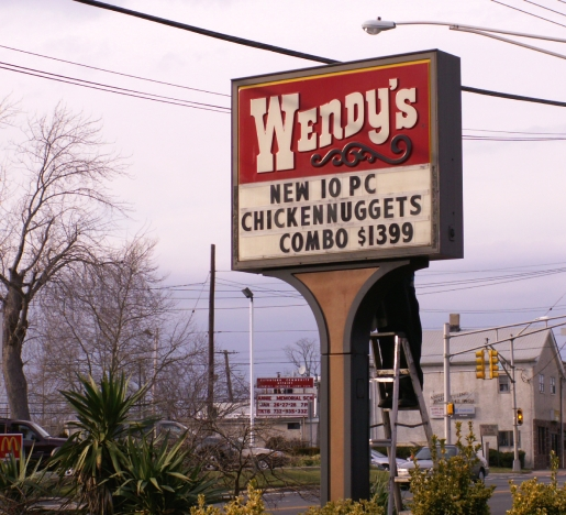 wendy's sign