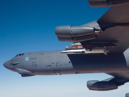 The X-51A Waverider attached to its B-52 carrier.